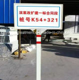 Огнезамедлительный столб отметки дороги, куча знака стеклоткани, нефть и газ кучи маркировки