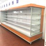 110V Supermercado Comercial abra Vídeo Frigorífico com cortina de ar