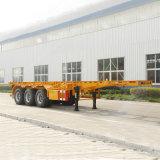 40FT transporte de contenedores esqueleto Semirremolque con 3 Eje