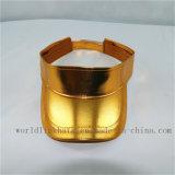 Kundenspezifische normale metallische goldene reflektierende Masken-Schutzkappe PU-Sun