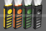 3 dans 1 mini haut-parleur portatif imperméable à l'eau sans fil de côté de pouvoir des haut-parleurs 7800mAh d'éclairage LED avec la lumière intense