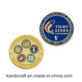 Оптовая изготовленный на заказ монетка металла края диаманта высокого качества