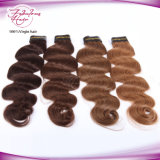 Hochwertiges brasilianisches Haar der Rumpf-Wellen-Farben-Haar-Extensions-2# Remy