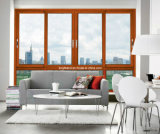 Finestra di scivolamento poco costosa dell'alluminio di vetratura doppia di Metel di ultimo disegno (CL-W1012)