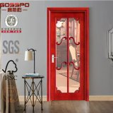 Portello interno di legno solido dell'inserto di vetro bianco della pittura (GSP3-016)