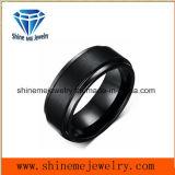 Personalizada profesional chapado en negro Anillo de tungsteno de buena calidad