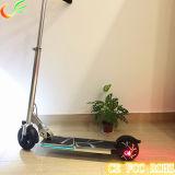 """5 """" LCDのメートルが付いているハンドルのFoldable小型電気スクーターが付いている折るElecitrcのスクーター"""