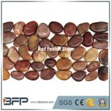 China pulió la piedra roja del guijarro con alta calidad