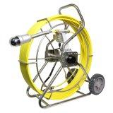 Tuyau de sous-marine avec le poussoir de roue d'inspection de 60m de câble en fibre de verre, lentille de caméra 50 mm, écran LCD 7 pouces