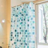 Cortina de chuveiro impermeável do banheiro do Anti-Mildew novo PEVA do projeto (16S0044)