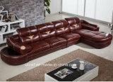 بينيّة يعيش غرفة [ل] شكل حديثة ركن جلد أريكة ([هإكس-سن047])