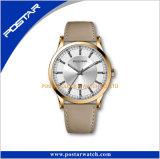 Index appliqués trois Hnads avec le Mens de montre-bracelet de mouvement de quartz du Japon de datte