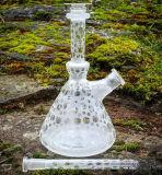 Tubulação de água de fumo do vidro colorido do sopro de areia com suíço