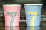 Tazas de papel China de un sólo recinto de la insignia del cliente hecha