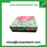 Rectángulo de papel rígido de la joyería de la Navidad del regalo de la venta que graba caliente