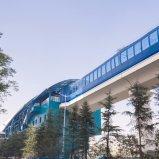Panneau en aluminium utilisé de station de métro avec la couleur verte et bleue