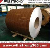 Bobina di legno del grano del comitato composito di alluminio per la facciata