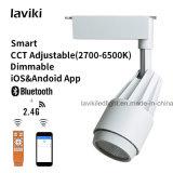 lumière changeable à télécommande sans fil de piste de l'ÉPI DEL de 2.4G rf LE TDC Dimmable avec 15W 24W