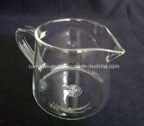 Copo de chá de vidro bebendo borosilicato claro feito à mão