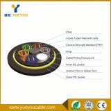 Напольное диэлектрическое двойное волокно сердечников куртки 24/48 PE - оптический кабель