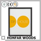 Bâti en bois de photo d'illustration de noir de bureau moderne de décoration