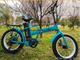 Foldable脂肪質のタイヤの電気マウンテンバイク、Eバイク