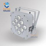 Un surtidor más barato de la luz de la etapa de China del precio del club delgado recargable ULTRAVIOLETA del disco del proyector de la IGUALDAD de V9 6in1 Rgbaw LED