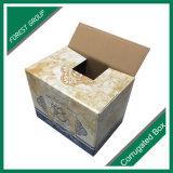 광택 있는 완성되는 물결 모양 출하 판지 상자