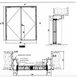 Puerta incombustible de la puerta de cristal clasificada del fuego de la alta calidad