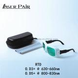Comprimento de onda 630nm-660nm/800-830nm de Eyewear da proteção do laser/laser para tratamentos da máquina e da pele da remoção do cabelo
