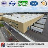 Entrepôt préfabriqué en acier de grande envergure pour le centre de logistique