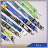 Promoción personalizada impresión del poliester cuerda de seguridad