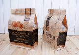 Бортовой мешок еды бумаги Kraft Gusset высушенный