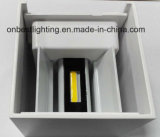 Indicatore luminoso caldo di angolo a fascio di Ajustable di vendite 12W LED Updown in IP65