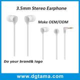 oortelefoon van de Oortelefoons van het in-oor van 3.5mm de Bas Stereo zonder Handsfree en Microfoon