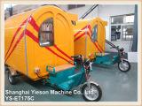 Chariot de nourriture de tricycle de Ys-Et175c avec le guichet et l'écran de glissement en verre