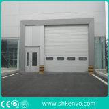 Porta secional aérea industrial motorizada automática da doca