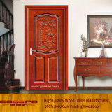 Puerta de madera de talla clásica india del dormitorio (GSP2-067)