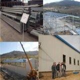 알제리아 Hot-DIP 직류 전기를 통한 H 단면도 강철을%s 가진 가벼운 강철 구조물 도살 작업장