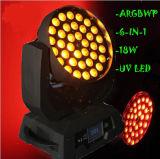 de Verlichting van de Disco van het UV6in1 LEIDENE 36*18W RGBWA Gezoem van de Was
