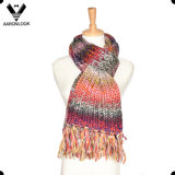 Космос пряжи Исландии способа Multicolor покрасил связанный шарф