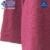 Newstyle Dark-Red Manga Larga cuello redondo Ocio señoras blusa holgada