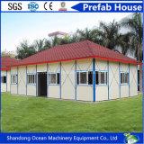 Casa móvil del edificio prefabricado favorable al medio ambiente del panel de la estructura de acero y de emparedado con bajo costo