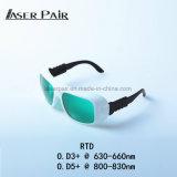 De Bescherming Eyewear van de laser/Golflengte 630nm660nm/800830nm van de Laser voor de Behandelingen van de Machine en van de Huid van de Verwijdering van het Haar