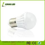 Luz de bulbo plástica super do diodo emissor de luz do brilho E27 3W
