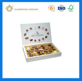 Rectángulo de empaquetado del chocolate de la venta 2017 del regalo de lujo caliente de la alta calidad (con la bandeja interna)