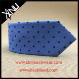 Les hommes vendent les cravates tissées par mélange Chine de coton en soie