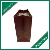 Sacchetto laminato opaco del regalo di acquisto della bottiglia di vino della carta patinata