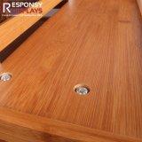 Présentoir en bois de casse-croûte de crémaillère en bois de nourriture d'étage avec des dessins