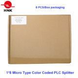 2*8 tipo micro divisor óptico cifrado color del PLC de fibra